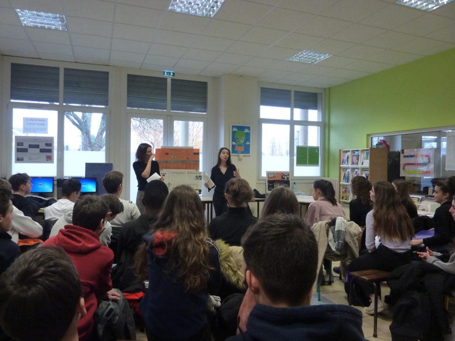 Laure Gauthier au lycée Notre-Dame de Toutes Aides
